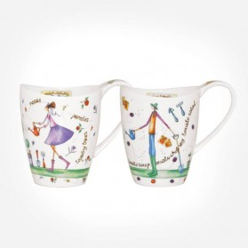 Queens Couture Garden Time Assorted Mugs