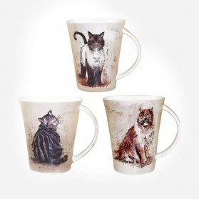 ALEX CLARK CATS FLIRT MUG ASSORTED
