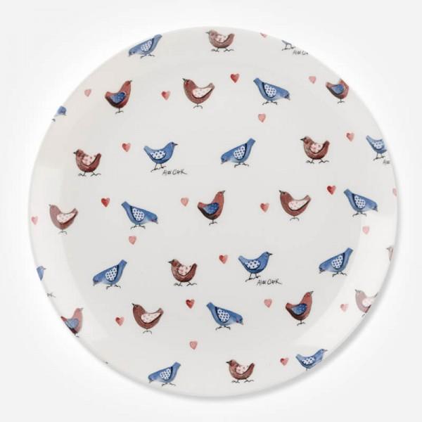 Alex Clark Lovebirds All Over Dinner Plate 26cm