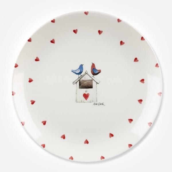 Alex Clark Lovebirds Border Dinner Plate 26cm