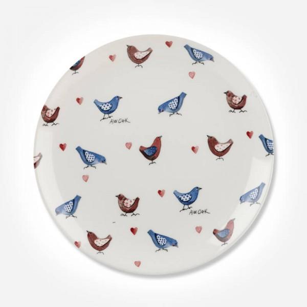 Alex Clark Lovebirds All Over Side Plate 20cm