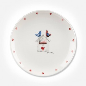Alex Clark Lovebirds Side Border Plate 20cm