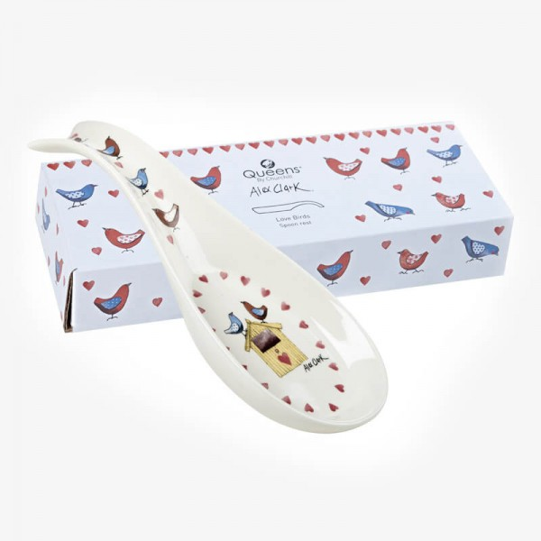 Alex Clark Love Birds Spoon Rest - New Shape