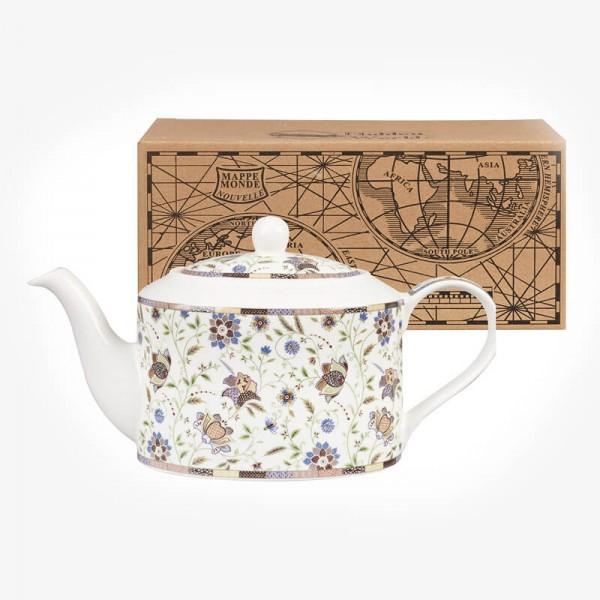 Hidden World Minstrel Indian Silk Teapot