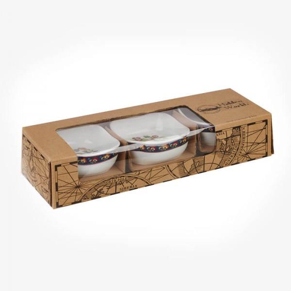 Hidden World Set of 3 Dip Bowls and Tray Gift Box