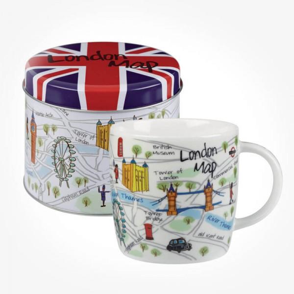 James Sadler collection London Maps MUG Gift Tin
