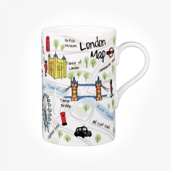 Churchill China James Sadler London Maps Mug