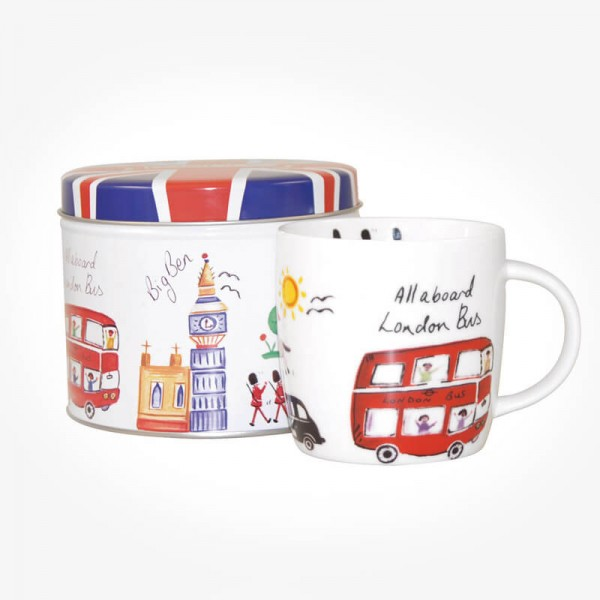 James Sadler London Travel Mug in Tin