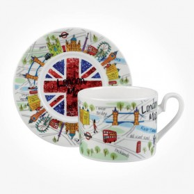 James Sadler London Maps Cup & Saucer Gift box