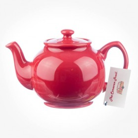 Caravan Trail Stanley Beach Hut Teapot Red