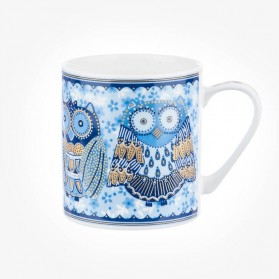 Colour Canvas Blue Story Night Owls Earth Mug