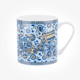 Colour Canvas Blue Story Lady Bicycle Mug