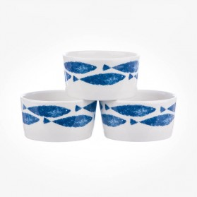 Fishie On a Dishie Set of 3 Dip Pots Ramekin