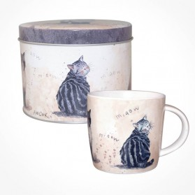 Alex Clark Cats Mug in Tin