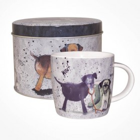 Alex Clark Dogs Mug in Tin