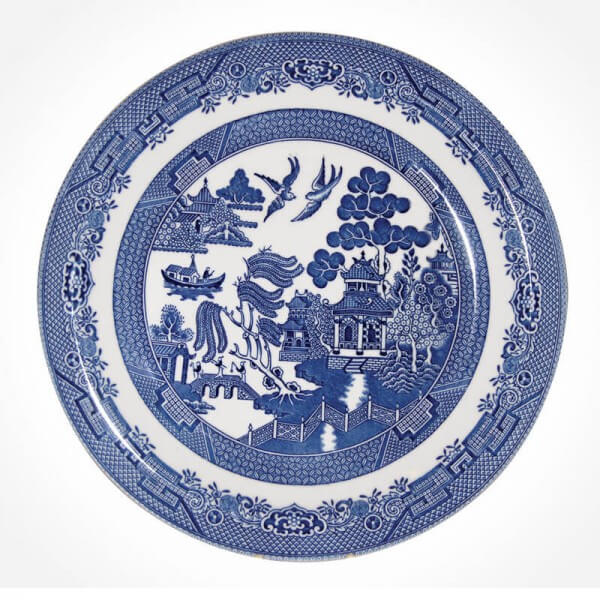 Blue Willow Dinner Plate 26cm