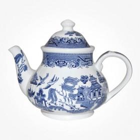 Churchill China Blue Willow Teapot