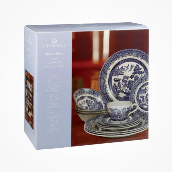 Blue Willow 20 Piece Box Set