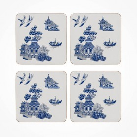 Blue Willow Coaster 4 piece Set