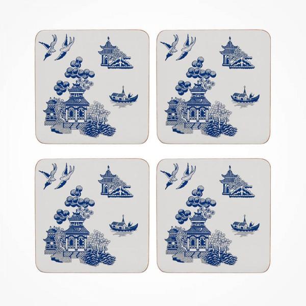 Blue Willow Coaster 4 piece Set