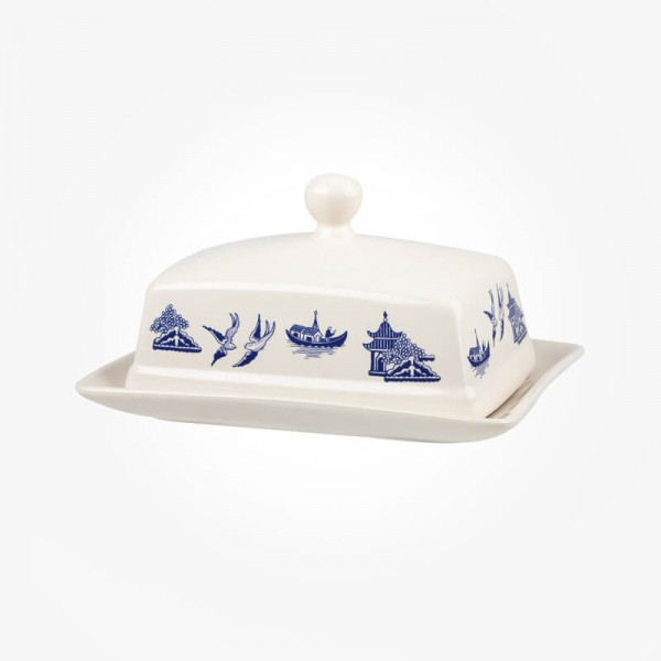 Blue Willow Butter Dish
