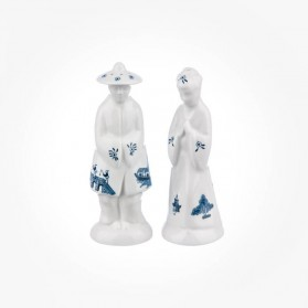 Blue Willow Salt & Pepper Figurines