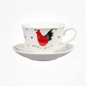 Alex Clark Rooster Cup and Saucer