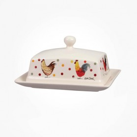 Alex Clark Rooster Butter Dish with Lid