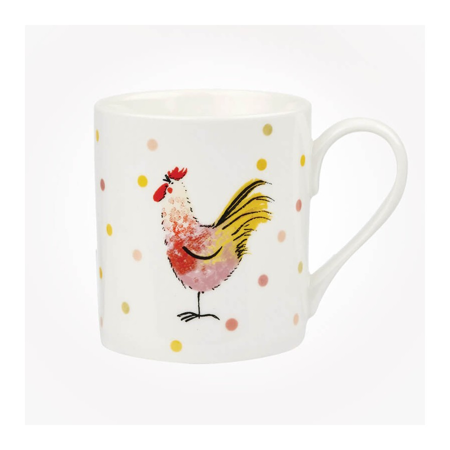 Queens Churchill Alex Clark Rooster 4 Mugs Gift Box