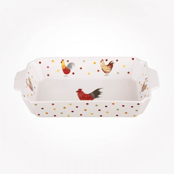 Alex Clark Rooster Rectangular Roaster 28cm