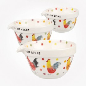 Alex Clark Rooster Measuring Cups Set of 3