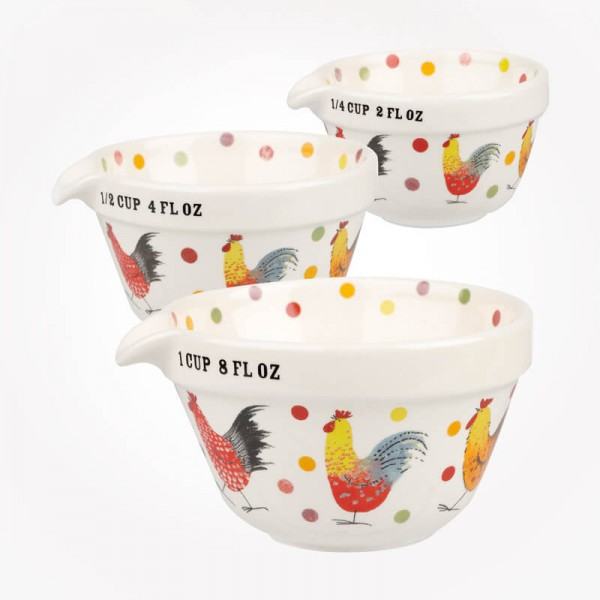 Alex Clark Rooster set of 3 Measuring Cups