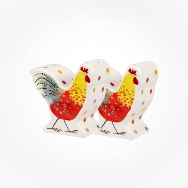 Alex Clark Rooster shapes Salt & Pepper