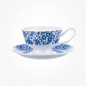Blue Story Grace Calico Teacup & Saucer