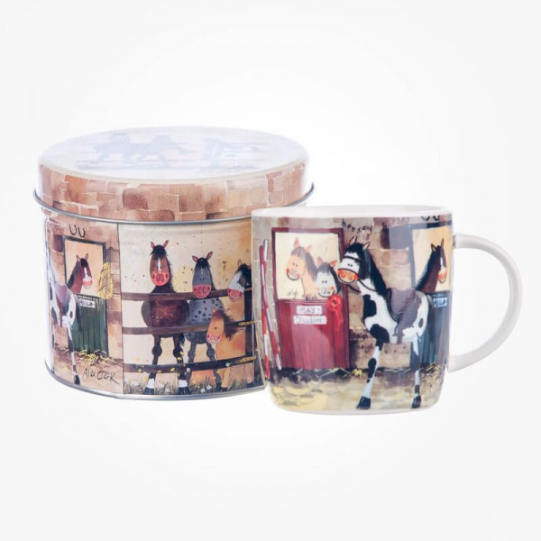 Alex Clark Ponies Mug in Tin