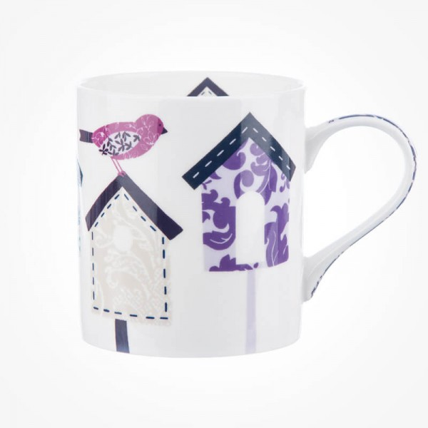 Queens Couture Bird Houses Mug