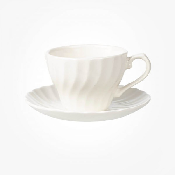 Chelsea White Teacup & Saucer