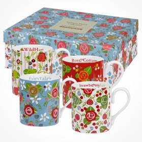 Julie Dodsworth Assorted 4 Mugs Gift Box set