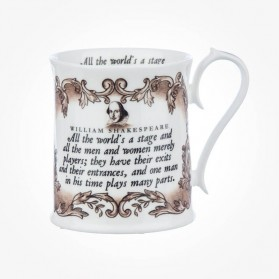 "Shakespeare ""All The World's A Stage"" Sepia Mug"