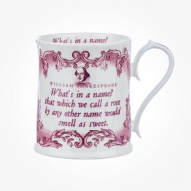 "Shakespeare ""What's in a Name"" Pink Tankard Mug"