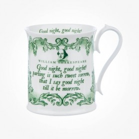 "Shakespeare ""Good Night, Good Night"" Green Tankard Mug"