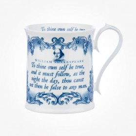 "Shakespeare ""To Thine own self be true"" Blue Mug"