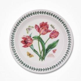Botanic Garden 8 inch Plate Pink Parrot Tulip