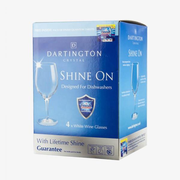 FINISH SHINE ON White Wine Glass 4 packs