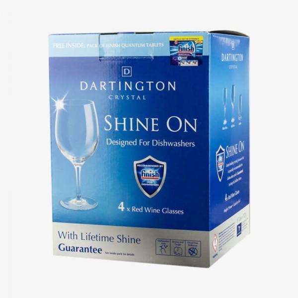 FINISH SHINE ON Red Wine Glasses 4 packs