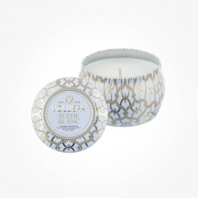 MAISON BLANC 4oz Mini Tin candle Suede Blanc
