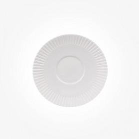 BELLEEK Lines Teacup Saucer