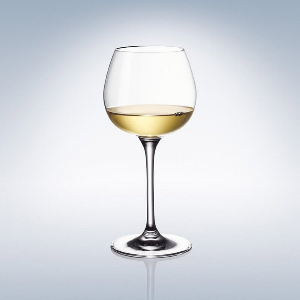 Purismo White wine glass goblet soft & rounded 198mm