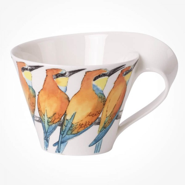NewWave Caffe Bee Eater White Coffee Cup
