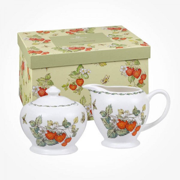 Queens Classic Virginia Strawberry Sugar and Creamer set